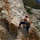 Rock climbing, Split, Dalmatia, Croatia, Split