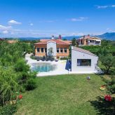 Luxury holiday house with pool in Nedescina, Rabac, Istria, Croatia, Rabac